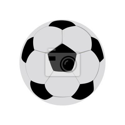 Obraz Piłka do piłki nożnej wektor na białym tle. Piłka głośności ...