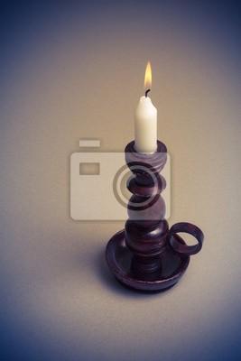 Świeca w rocznika świeczniku Obrazy na ścianę • Obrazy recepcja ...